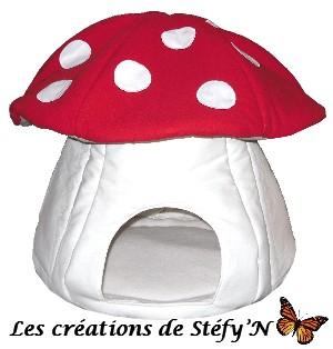cabane champignon furet cochon d`inde rat
