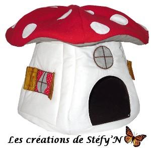 cabane maisonnette champignon furet cochon d`inde rat