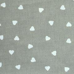 coton coeur gris