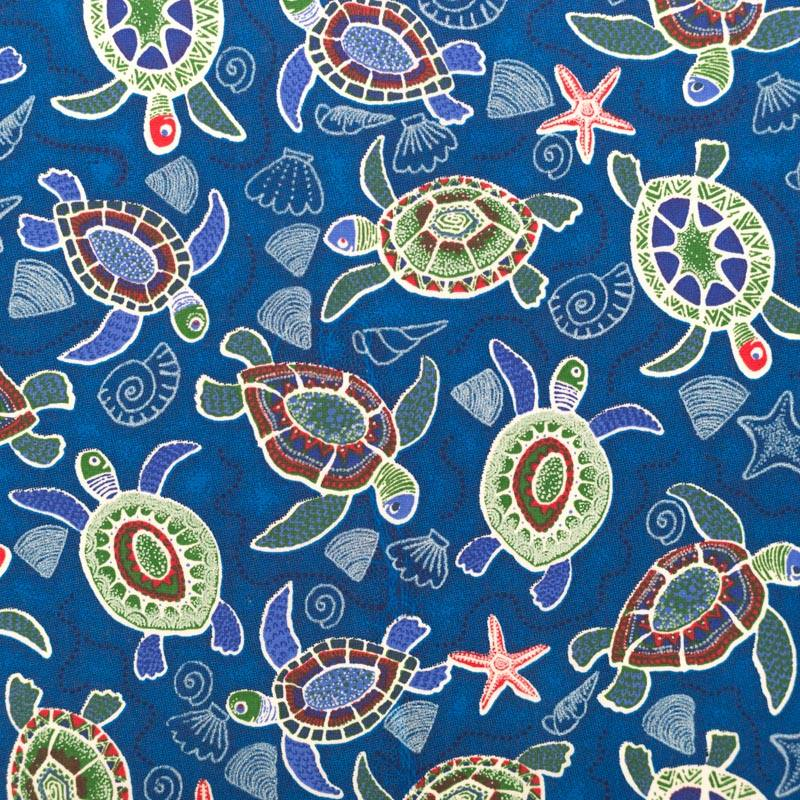 coton tortue bleue