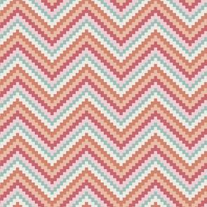 coton zigzag saumon