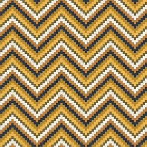 coton zigzag ocre