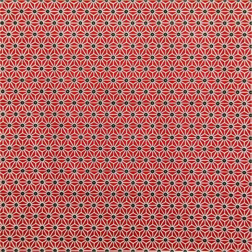 coton étoile graphique rouge