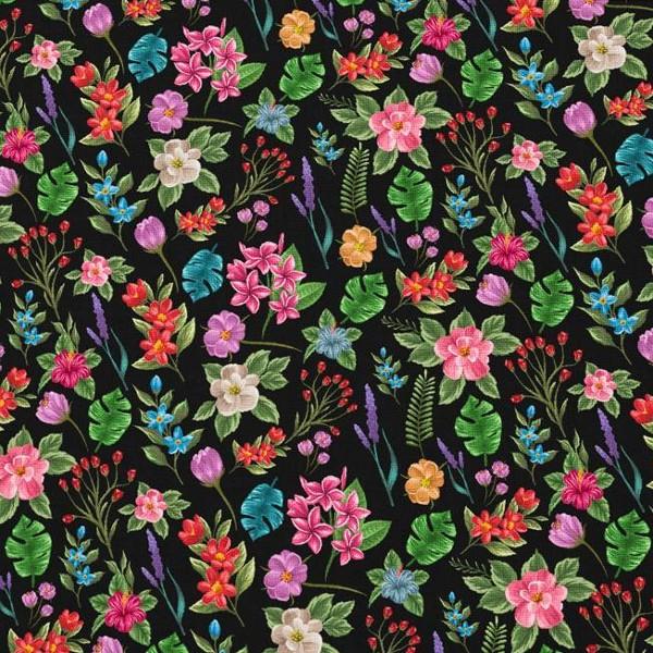 coton fleuri noir