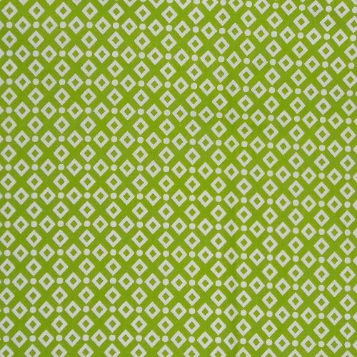 coton losange vert