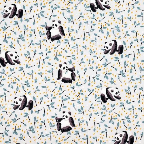coton panda bleu