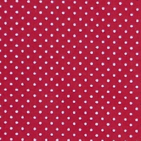 coton moyen pois rouge