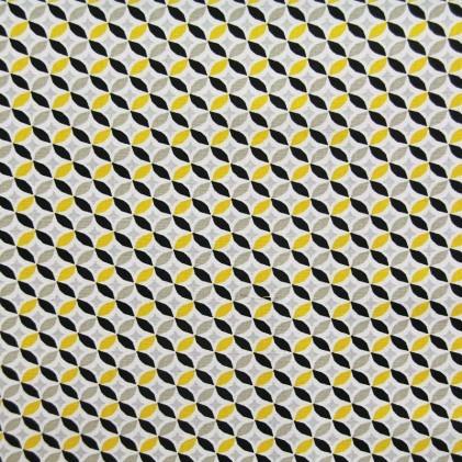 coton rosace jaune