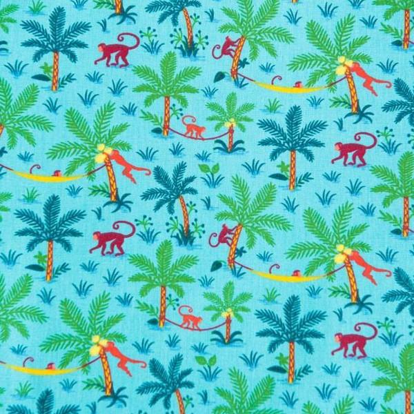 coton singe turquoise