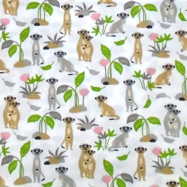 coton suricate blanc vert