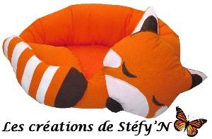 couffin panda roux endormi furet cochon d`inde rat