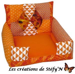 couffin fauteuil arlequin orange furet cochon d`inde rat rongeur