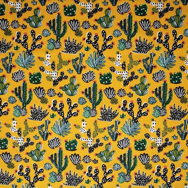 coton cactus jaune